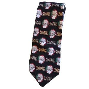 Robert Stock Mens Silk Santa Claus Christmas Tie